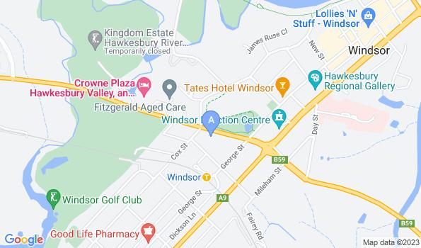 Street map of Macquarie Vet Clinic