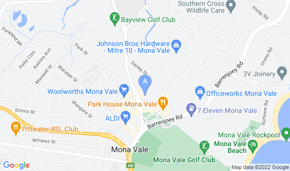 Street map of Mona Vale Veterinary Hospital