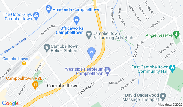 Street map of Campbelltown North Animal Hospital