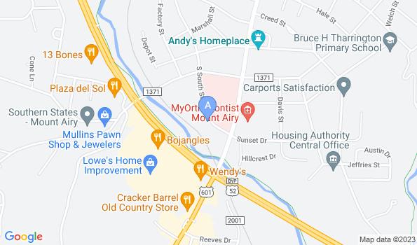 Street map of Mount Airy Veterinary Hospital