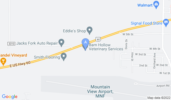 Street map of Barn Hollow Veterinary Services