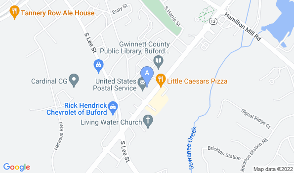 Street map of Animal Hospital of North Gwinnett