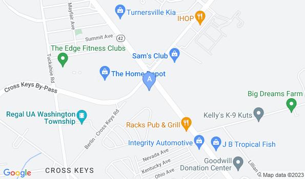 Street map of Cross Keys Animal Hospital