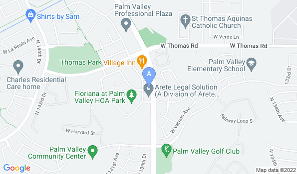 Street map of Palm Valley Animal Clinic