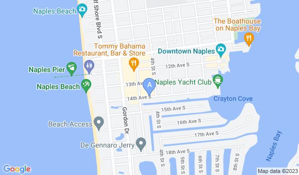 Street map of Olde Naples Animal Wellness Center