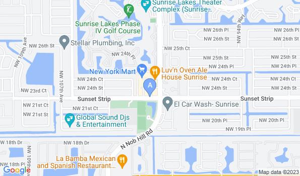Street map of Sunset Animal Hospital