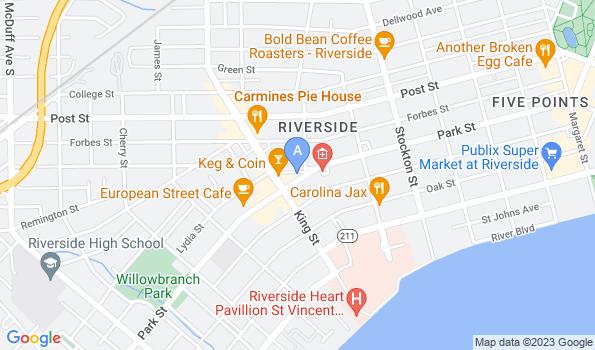 Street map of Riverside Animal Hospital