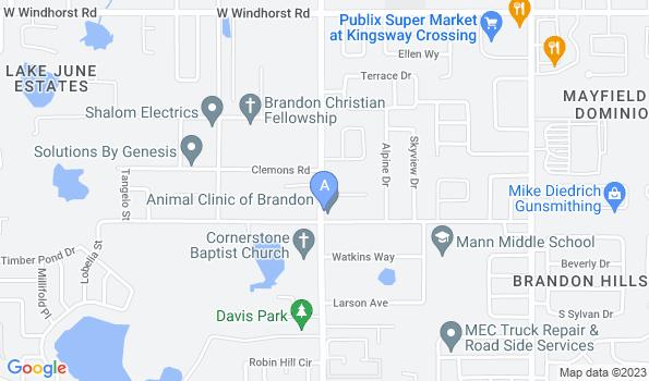 Street map of Animal Clinic of Brandon