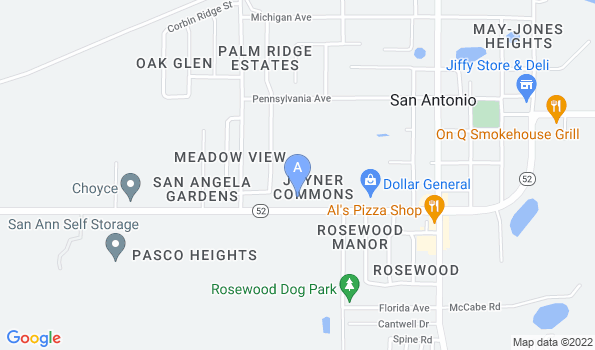 Street map of San Antonio Animal Hospital