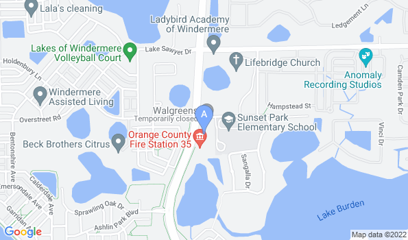 Street map of Windermere Veterinary Services