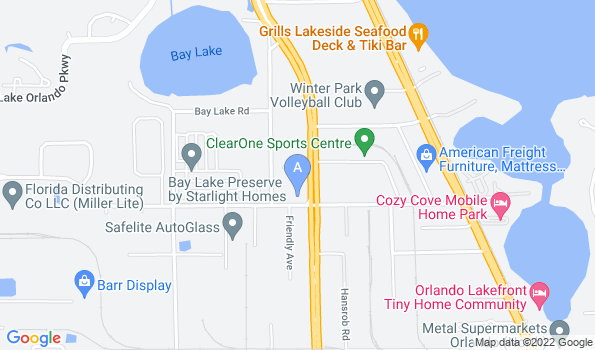 Street map of John Young Parkway Animal Hospital