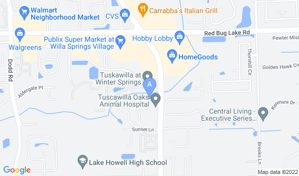Street map of Tuscawilla Oaks Animal Hospital