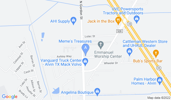 Street map of Alvin Animal Clinic