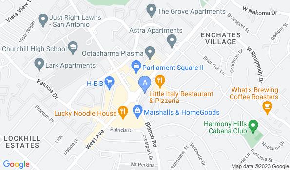 Street map of Churchill Veterinary Hospital