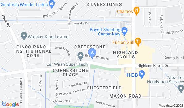 Street map of Animal Hospital of Katy