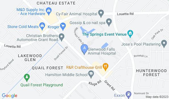 Street map of Glenwood Falls Animal Hospital