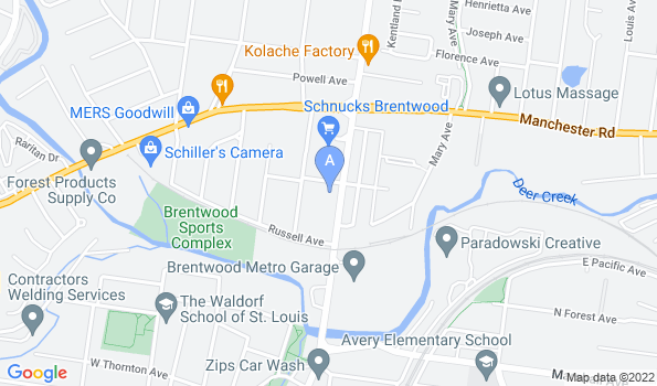 Street map of Brentwood Animal Hospital