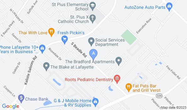 Street map of St. Francis Veterinary Hospital