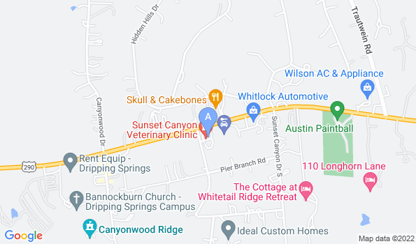 Street map of Sunset Canyon Veterinary Clinic