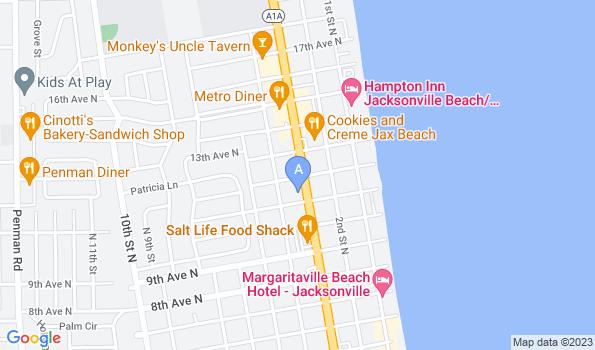 Street map of Oceanview Veterinary Hospital