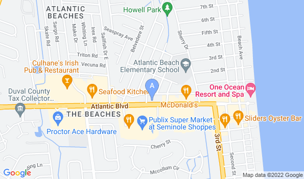 Street map of Atlantic East Animal Clinic