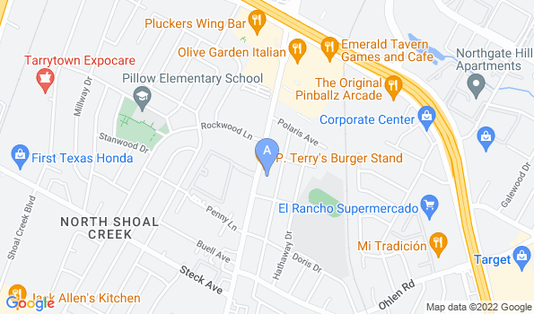 Street map of Burnet Road Animal Hospital