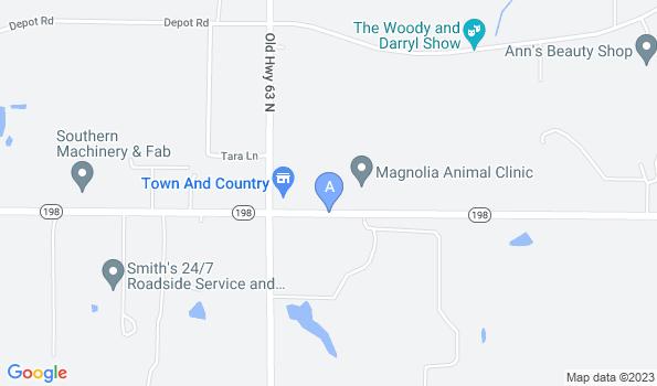 Street map of Magnolia Animal Clinic