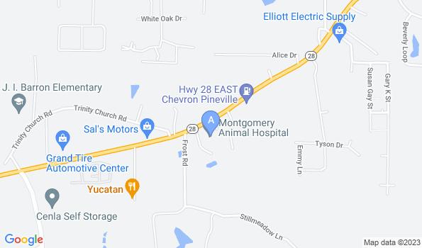 Street map of Montgomery Animal Hospital