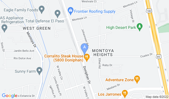 Street map of Zarges Animal Clinic