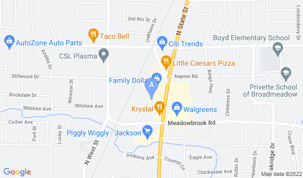 Street map of Northside Pet Clinic