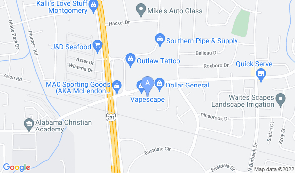 Street map of Montgomery Animal Hospital