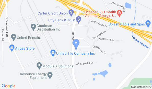 Street map of Ellerbe Road Animal Hospital