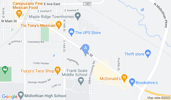 Street map of Midlothian Veterinary Clinic
