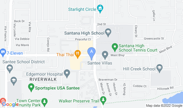 Street map of Mast Blvd. Pet Hospital