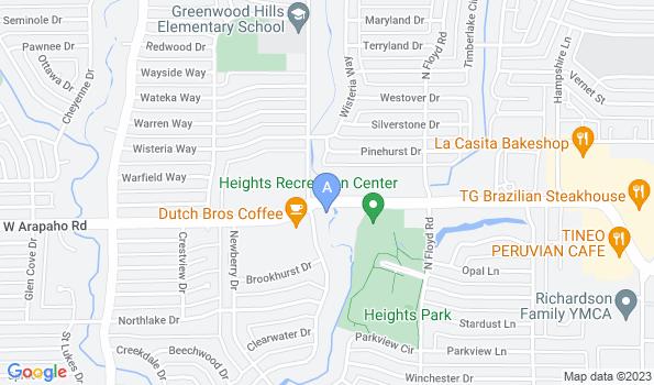 Street map of Arapaho Road Animal Clinic
