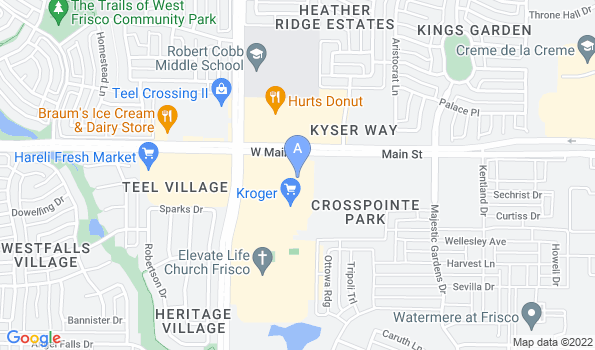 Street map of Family Friends Veterinary Hospital
