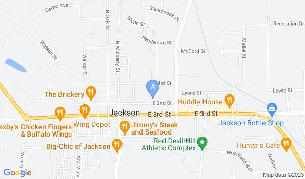 Street map of Jackson Veterinary Clinic
