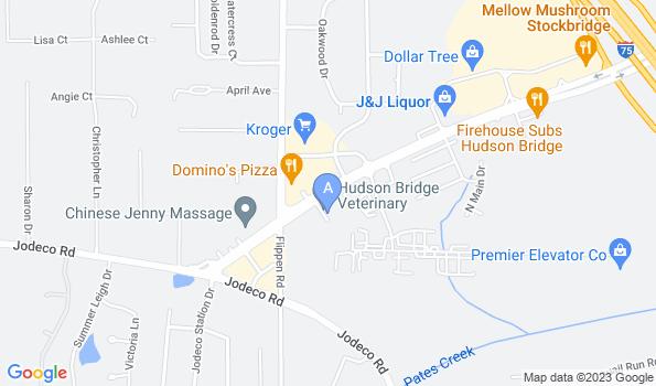Street map of Hudson Bridge Animal Clinic