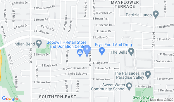 Street map of Indian Bend Animal Hospital