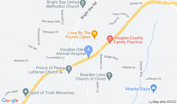 Street map of Douglas Oaks Animal Hospital