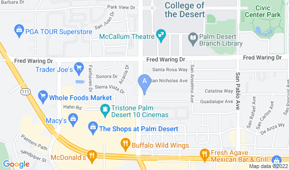Street map of Animal Hospital of Desert