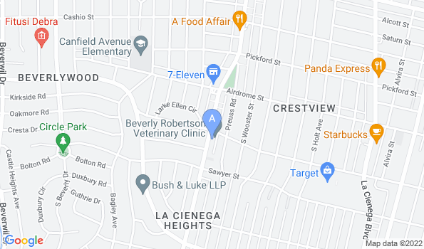 Street map of Beverly Robertson Veterinary Clinic