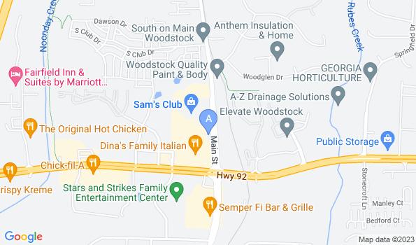 Street map of Crossroads Veterinary Hospital