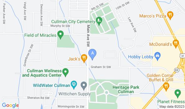 Street map of Cullman Veterinary Hospital