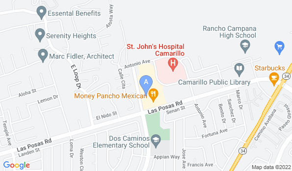 Street map of Dr. Battier's Veterinary Clinic