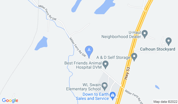 Street map of Best Friends Animal Hospital