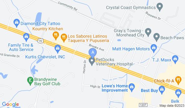 Street map of PetDocks Veterinary Hospital