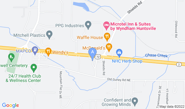 Street map of Chase Animal Hospital