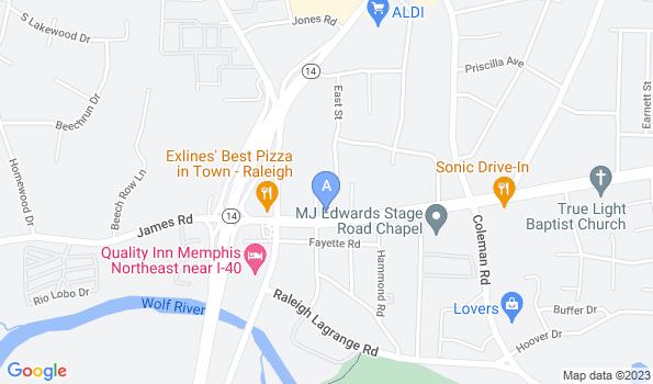 Street map of Raleigh Bartlett Animal Hospital