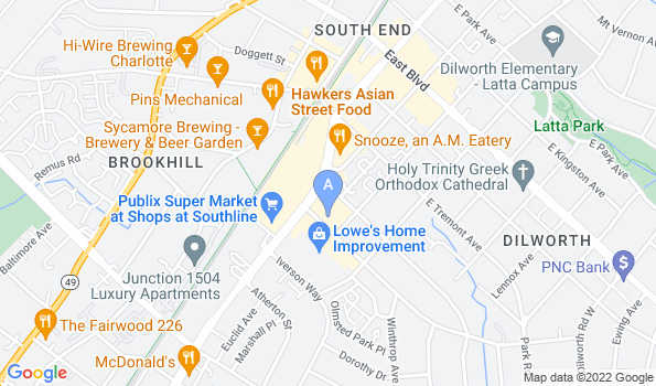 Street map of South End Veterinary Clinic